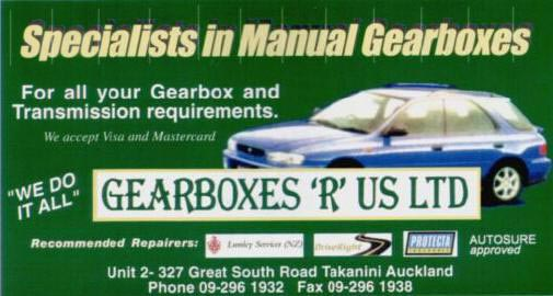 Manual and Automatic Gearbox Repairs